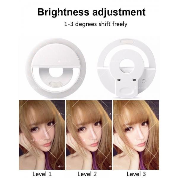 Кръгла селфи светкавица с LED светлина TV340 3