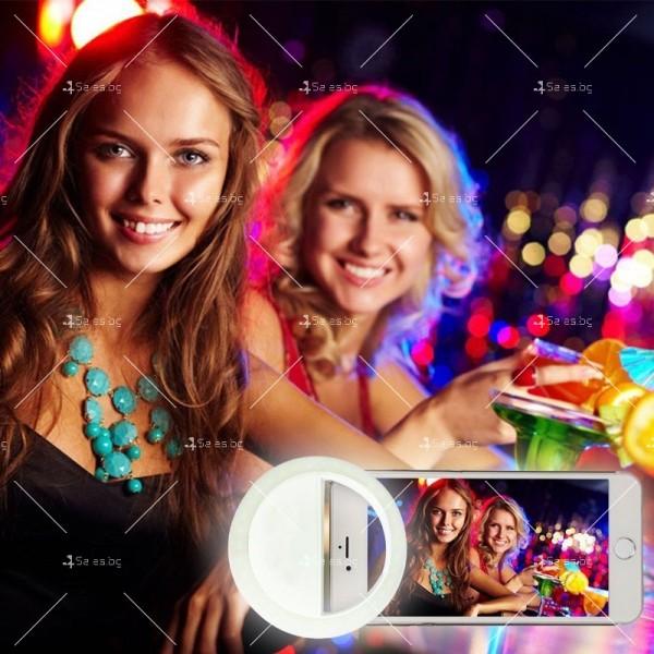 Кръгла селфи светкавица с LED светлина TV340 4