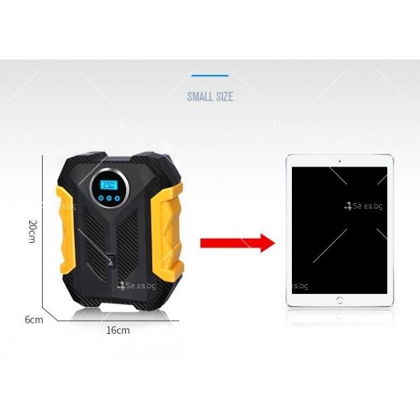 Автомобилна портативна въздушна помпа с безжичен цифров дисплей AUTO PUMP5 5