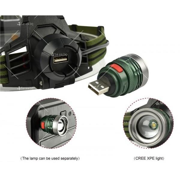Електрически фенер челник с ярка светлина, разглобяема крушка с USB порт FL54 2