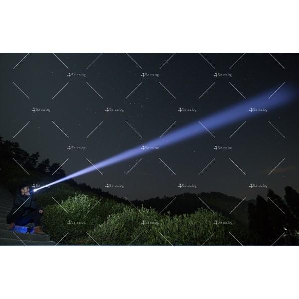 Мощен иновативен, портативен LED фенер с USB зареждане XHP70.2 - FL52 9