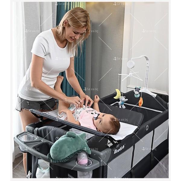 Многофункционално преносимо детско легло-люлка с различни аксесоари Brotish TV516 2