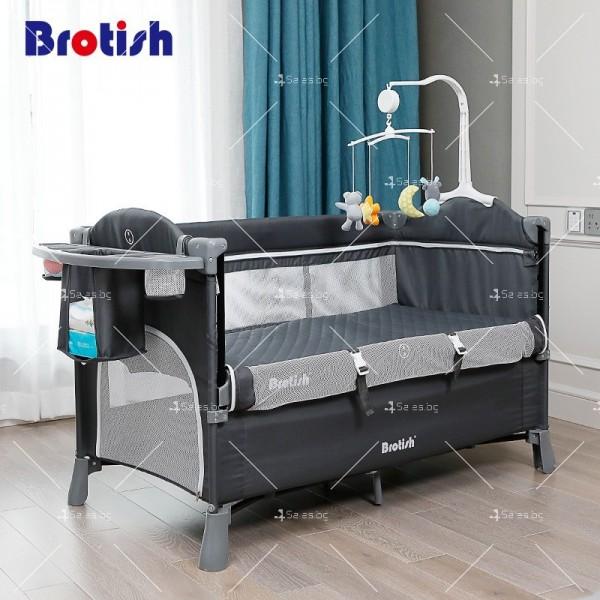 Многофункционално преносимо детско легло-люлка с различни аксесоари Brotish TV516 6