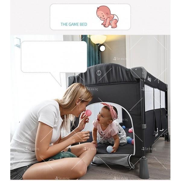 Многофункционално преносимо детско легло-люлка с различни аксесоари Brotish TV516 9