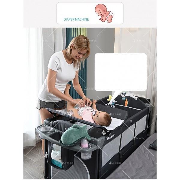 Многофункционално преносимо детско легло-люлка с различни аксесоари Brotish TV516 10