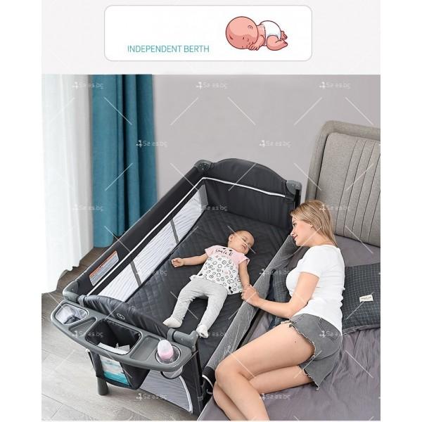 Многофункционално преносимо детско легло-люлка с различни аксесоари Brotish TV516 15