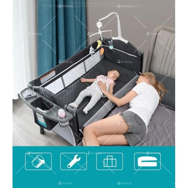 Многофункционално преносимо детско легло-люлка с различни аксесоари Brotish TV516 18