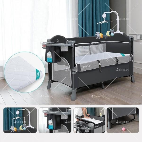 Многофункционално преносимо детско легло-люлка с различни аксесоари Brotish TV516 20