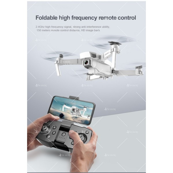 Иновативен мини дрон с висока резолюция от 4К HD - DRON E59 (4K+BAG) 2