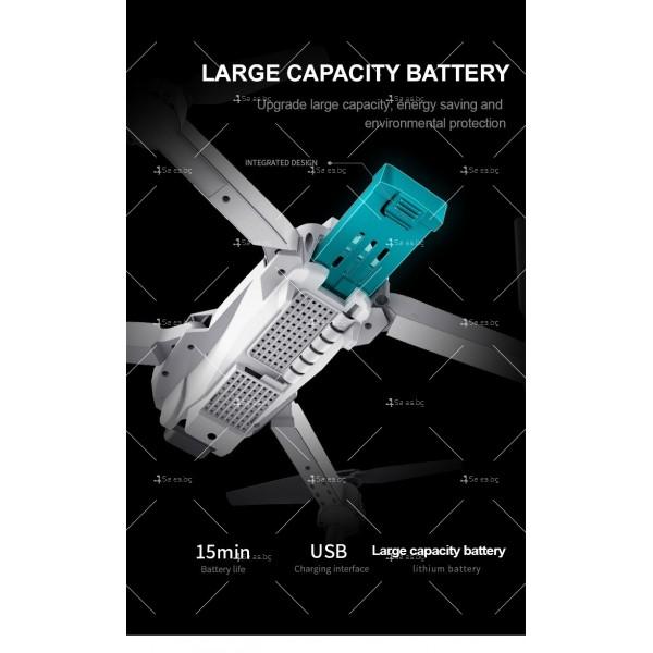 Иновативен мини дрон с висока резолюция от 4К HD - DRON E59 (4K+BAG) 11