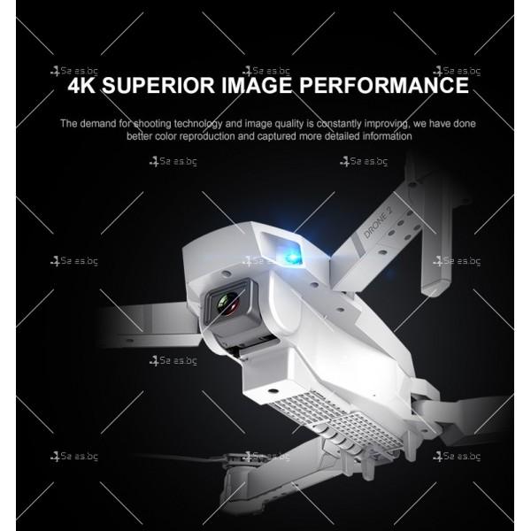 Иновативен мини дрон с висока резолюция от 4К HD - DRON E59 (4K+BAG) 14