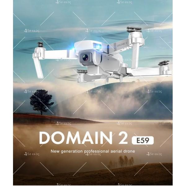 Иновативен мини дрон с висока резолюция от 4К HD - DRON E59 (4K+BAG) 16