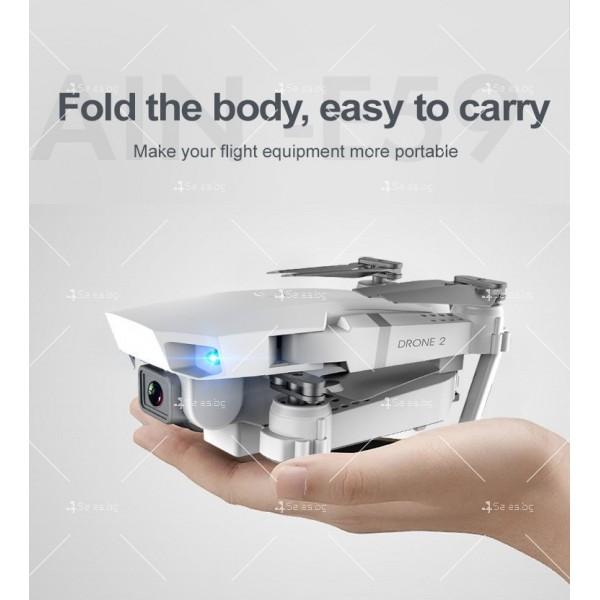 Иновативен мини дрон с висока резолюция от 4К HD - DRON E59 (4K+BAG) 19