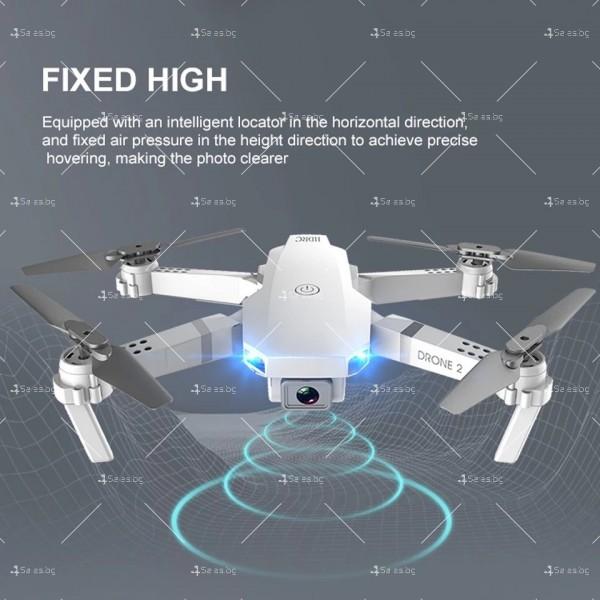 Иновативен мини дрон с висока резолюция от 4К HD - DRON E59 (4K+BAG) 21