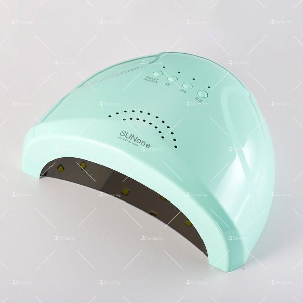 Лампа за маникюр SUNone с мощност 48W, последна манипулация след лакиране MK9 8