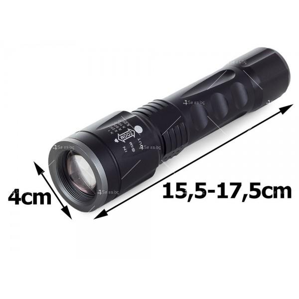 Малък тактически LED фенер, светодиоден и CREE ZOOM осветяване FL87 3