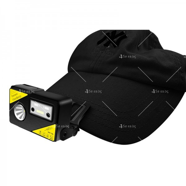 Фенер за глава със силна светлина XPG + LED, вградена батерия с USB - FL68 5