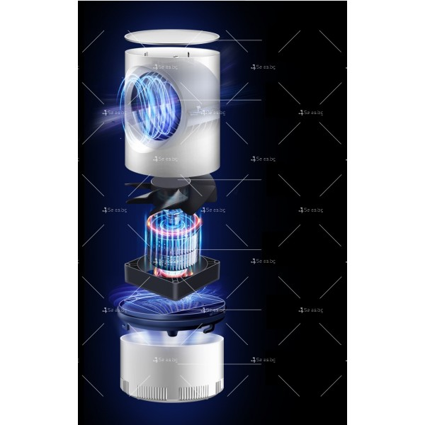 UV лампа против комари с лилава светлина и засмукваща функция TV528 12