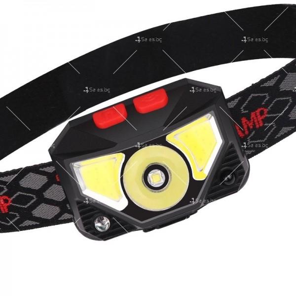 Фенер – челник с вградени батерии, XPG + COB червена и бяла светлина FL57 10