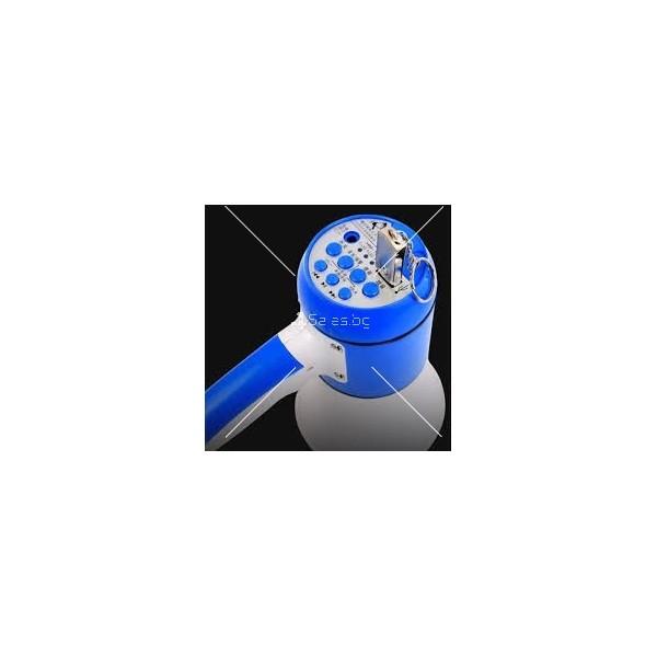Мегафон в син и бял цвят с вградена сирена, USB захранване и мощност 5V 15W TV653 4