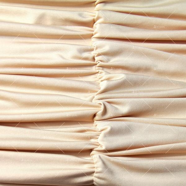 Къса рокля с изрязан корем, V-образно деколте и тънки презрамки FZ51 9