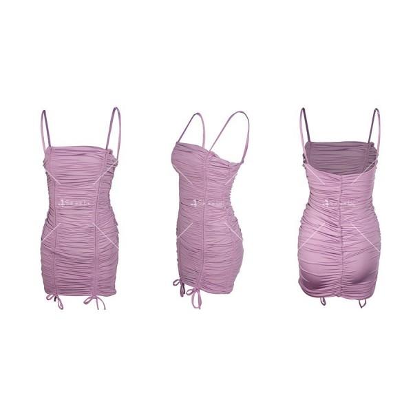 Мини дамска рокля с тънки презрамки в четири цвята FZ60 10