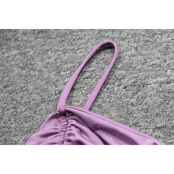 Мини дамска рокля с тънки презрамки в четири цвята FZ60 15