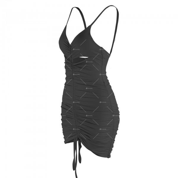 Лятна секси къса рокля с изрязани части и V-образно деколте FZ71 10