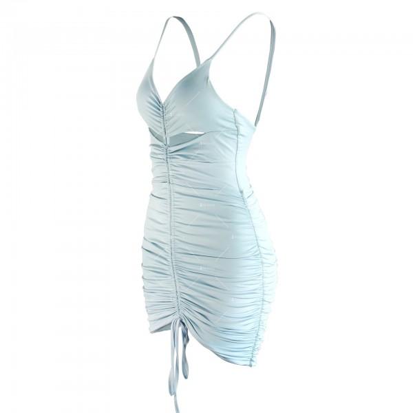 Лятна секси къса рокля с изрязани части и V-образно деколте FZ71 15
