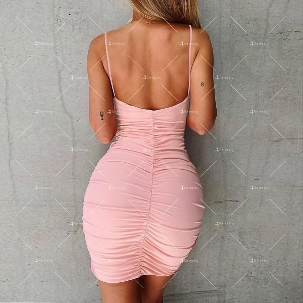 Лятна секси къса рокля с изрязани части и V-образно деколте FZ71 17