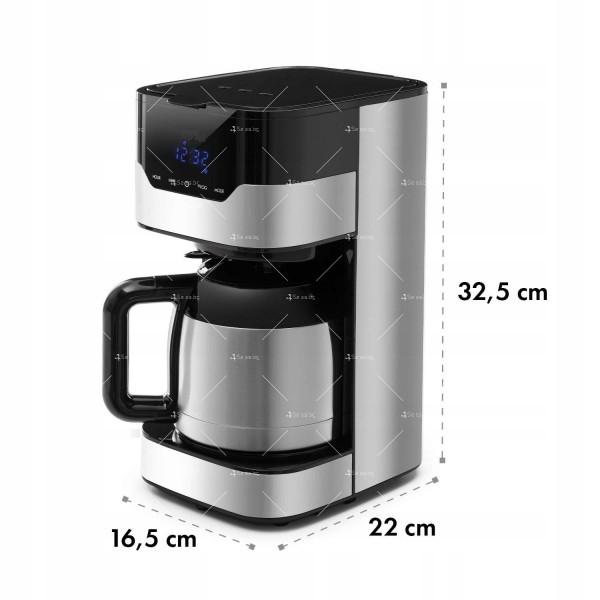 Модерна кафе машина с капацитет 900W с филтри и функция ThermoS 6