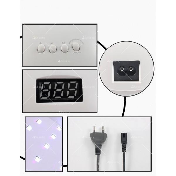 Елегантна и компактна UV LED лампа за нокти SUN5 с висока мощност-48W - MK13 10