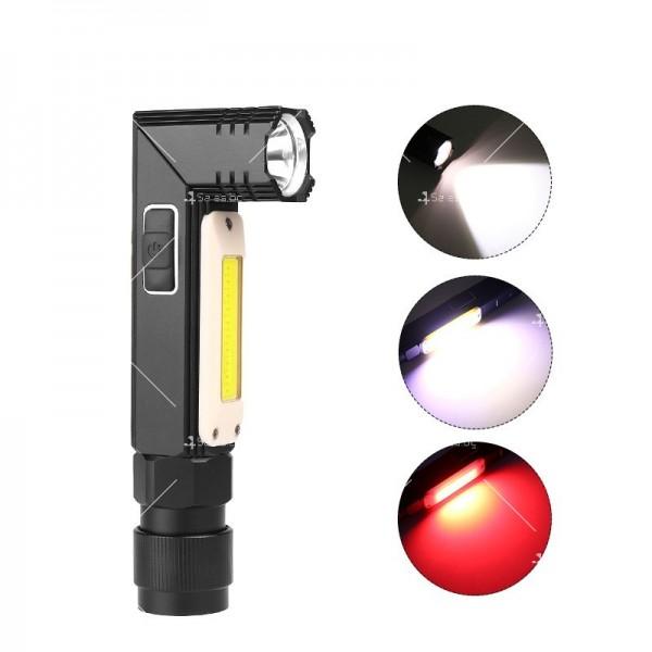 Фенер за глава, XPG + COB червена и бяла светлина, сгъване на 90 ° - FL59 6