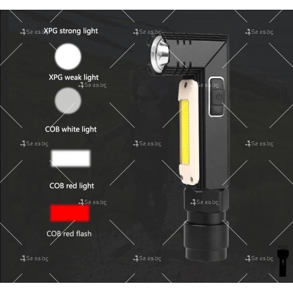 Фенер за глава, XPG + COB червена и бяла светлина, сгъване на 90 ° - FL59 7