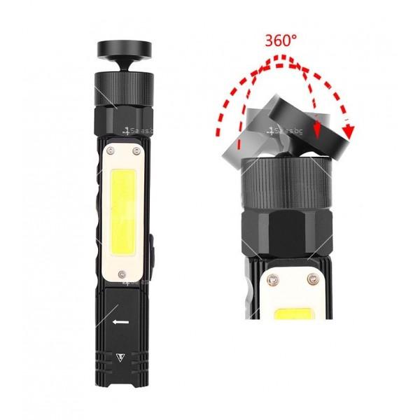 Фенер за глава, XPG + COB червена и бяла светлина, сгъване на 90 ° - FL59 11