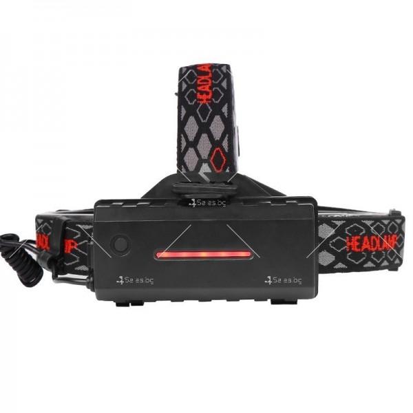Двустранна лампа за глава, LED T6 + COB въртящ се фар на 360 ° - FL60 2