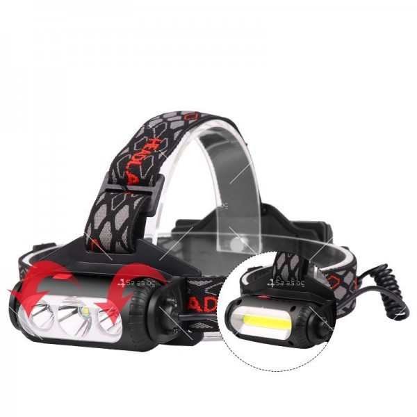 Двустранна лампа за глава, LED T6 + COB въртящ се фар на 360 ° - FL60 5