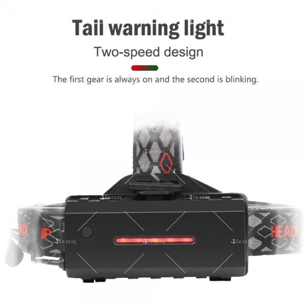 Двустранна лампа за глава, LED T6 + COB въртящ се фар на 360 ° - FL60 6