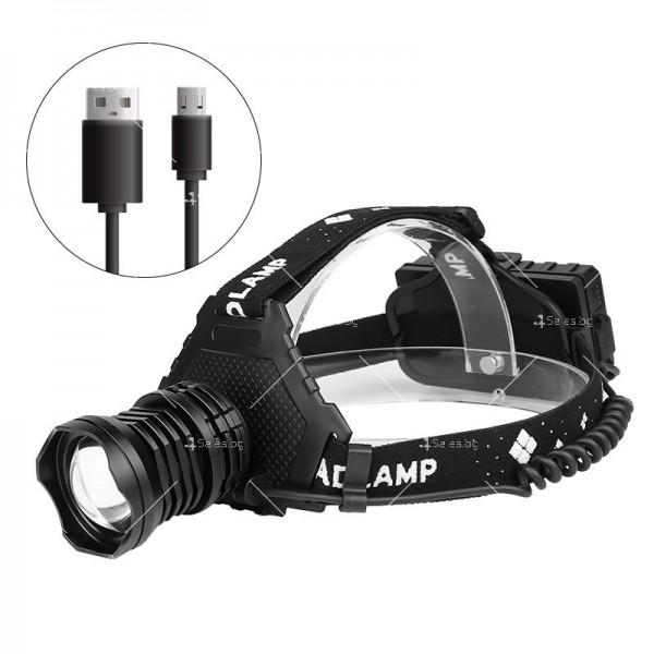 Подвижeн фенер за глава с USB презареждане 1000Lumens XHP 70 - FL62 2