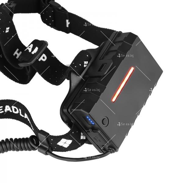 Подвижeн фенер за глава с USB презареждане 1000Lumens XHP 70 - FL62 3
