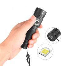 Мощно Ръчно джобно фенерче с крушка XHP50 магнит и голяма батерия FL64
