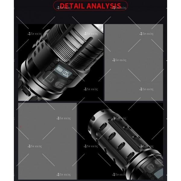 Малко фенерче с XHP70 силна светлина и интелигентен OLED дисплей FL69 12