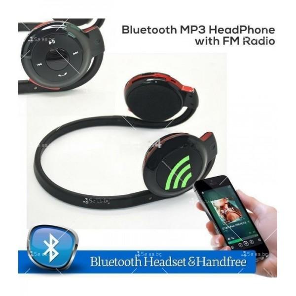 Безжични Bluetooth слушалки BD-740 в черен и червен цвят EP15 2