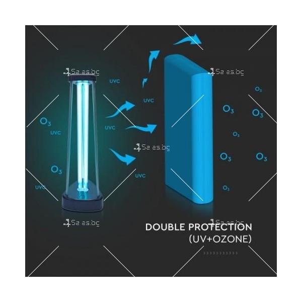 UV-C бактерицидна антивирусна лампа с озон, мощност 38W 6