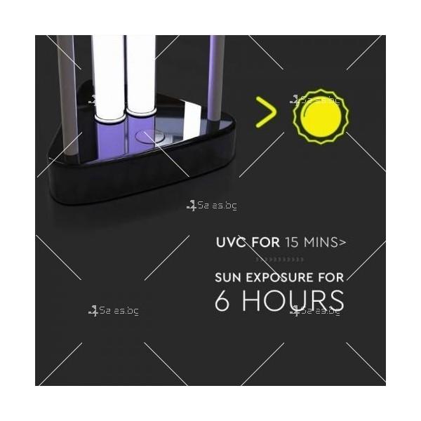 UV-C бактерицидна антивирусна лампа с озон, мощност 38W 11