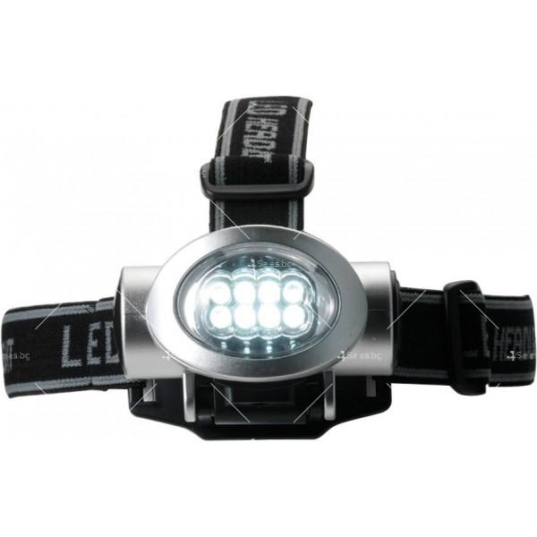 Мощен фенер за глава с 8 LED светлини FL89