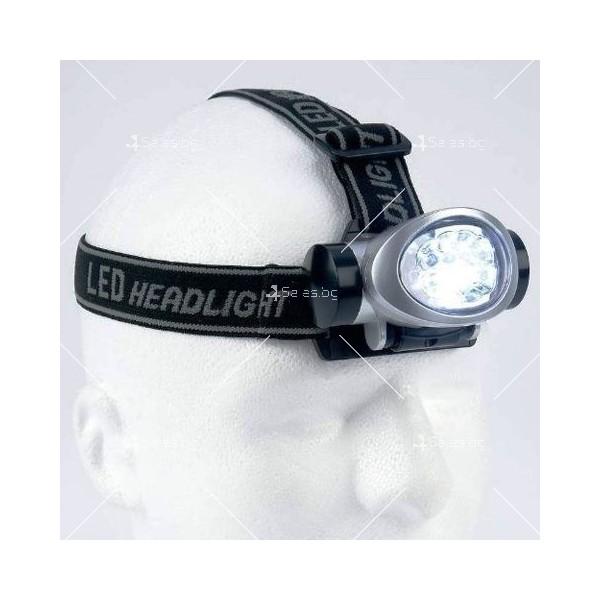 Мощен фенер за глава с 8 LED светлини FL89 4