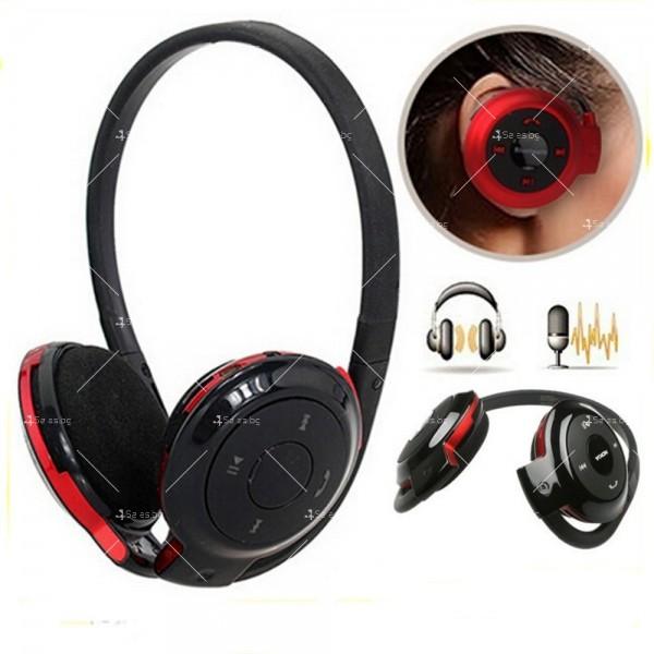 Безжични Bluetooth слушалки BD-740 в черен и червен цвят EP15