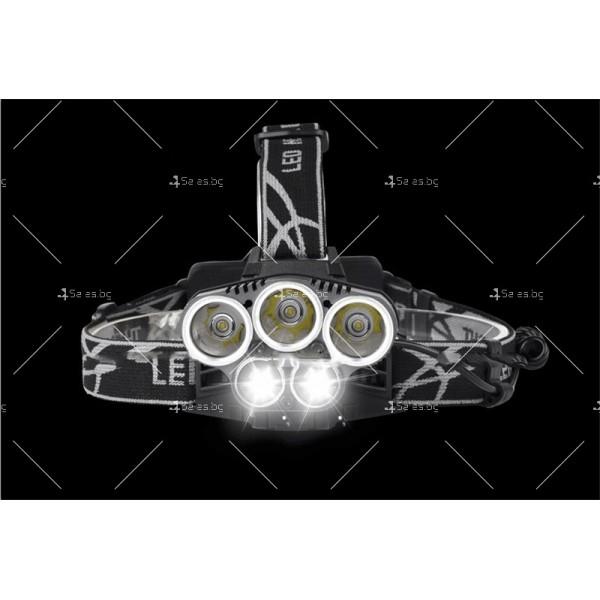 Ново поколение професионален фенер за глава с 5LED светлини - FL53 4