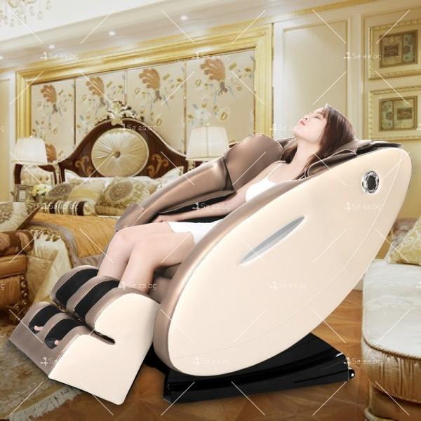 Музикален масажен стол с множество екстри, домашен SPA център F1CLUB А50 4